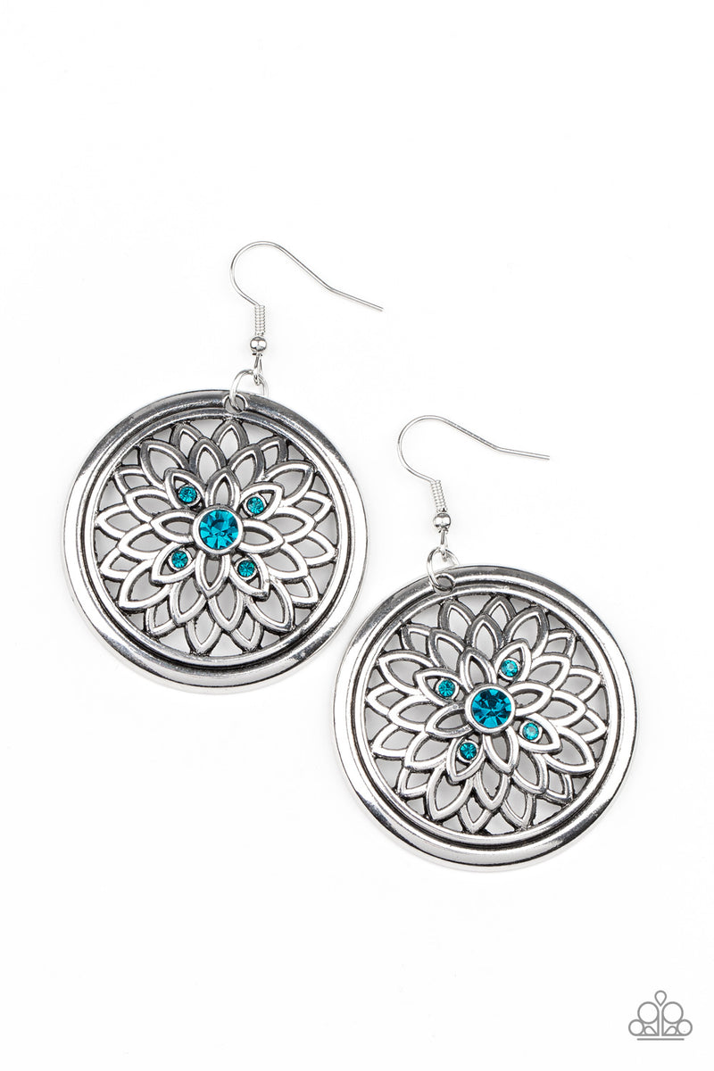 Mega Medallions - Blue Earrings - Paparazzi Accessories