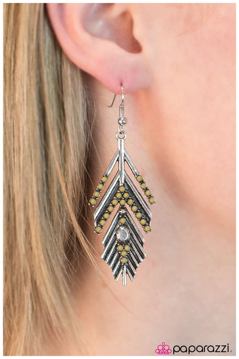 Huntress Earrings - Paparazzi Accessories
