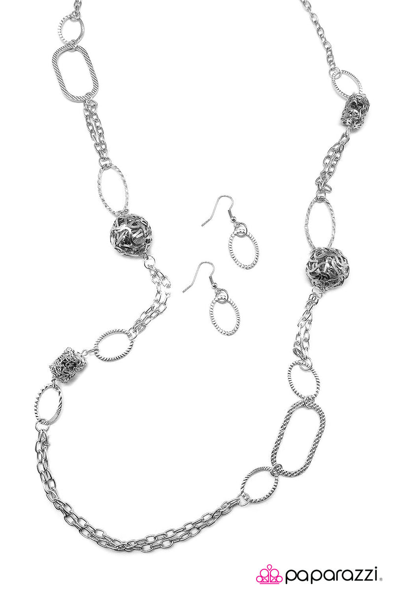 Totally Twisted - Silver Necklace - Paparazzi Accessories