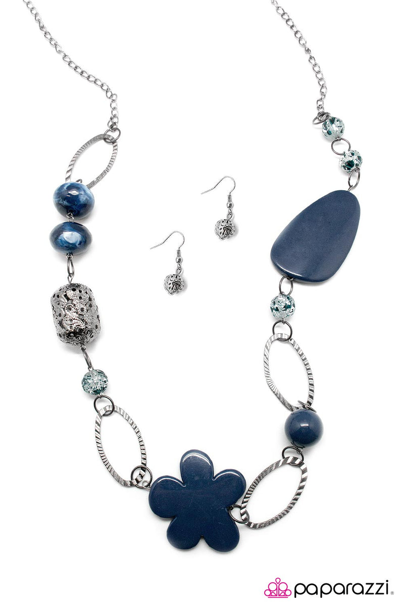Tickle Your Fancy - Blue Necklace - Paparazzi Accessories