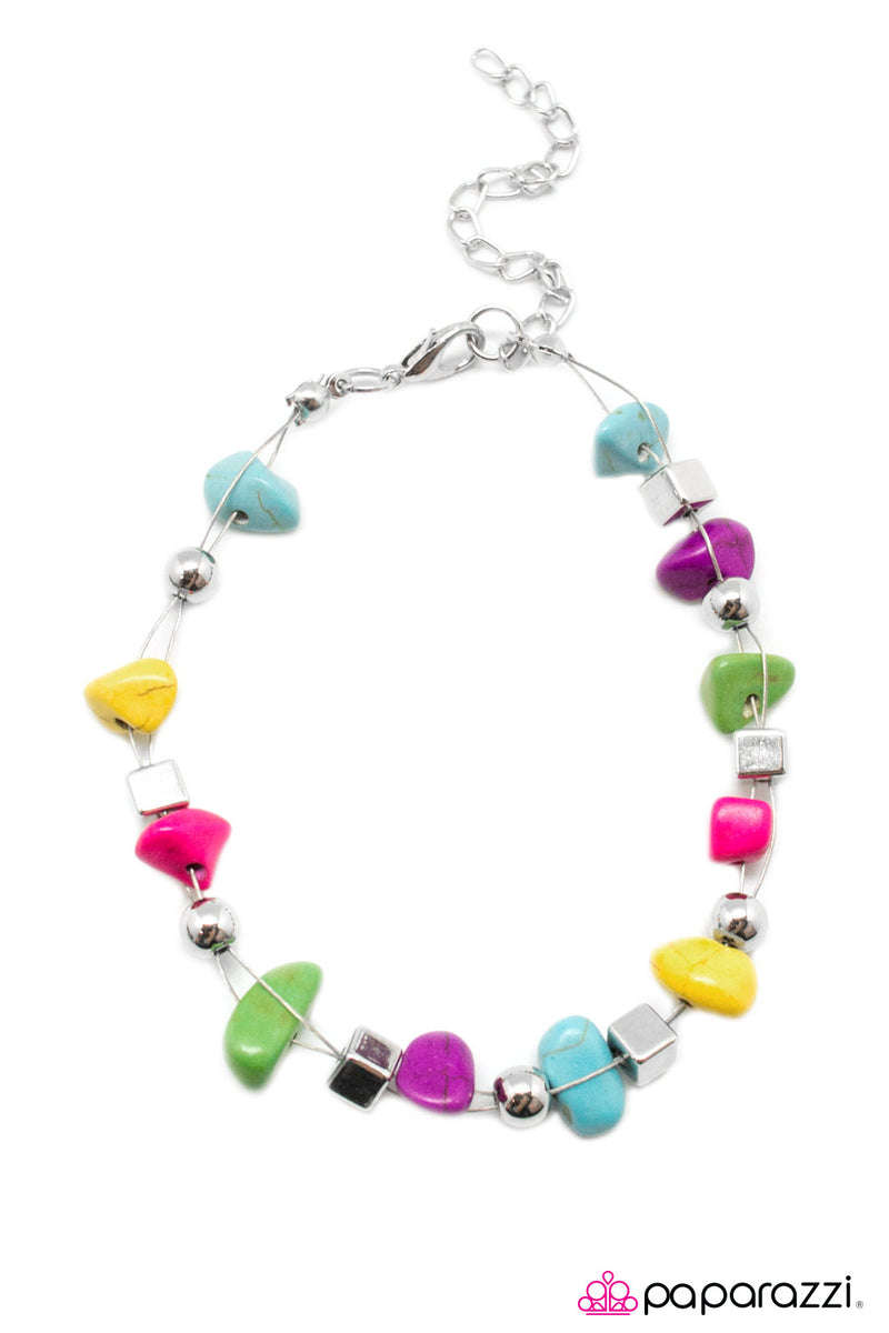 This Calls For A PEBBLE-bration! - Multi Bracelet - Paparazzi Accessories