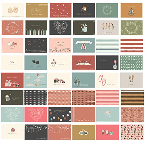 48 Blank All Occasion Cards - Greeting Cards with Envelopes for Any & Every Occassion