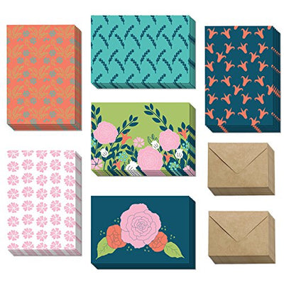 Blank All Occasion Cards - Flower Greeting Cards with Envelopes for Any & Every Occassion