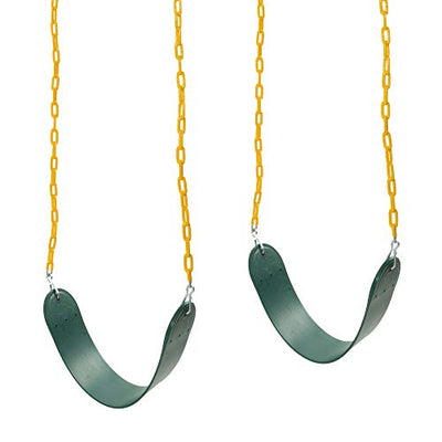 Barcaloo Playground Swing with Plastic Coated Chain 2 Pack - Set of Outdoor Swings for Jungle Gym