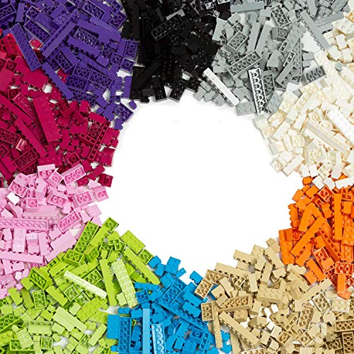1000 Piece Building Bricks Set - 10 Pastel Colors - Guaranteed Tight Fit, Compatible with All Major Brands