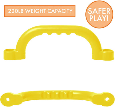 Playground Safety Handles - Yellow Grab Handle Bars for Jungle Gym
