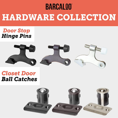 Ball Catch Door Hardware for Closet or Cabinet, Black 2 Pack