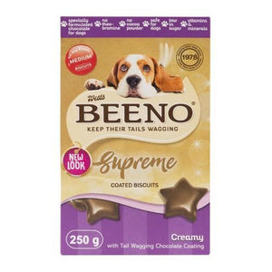 Beeno Supreme Choc Biscuit Treats - 250g - Pet bonds