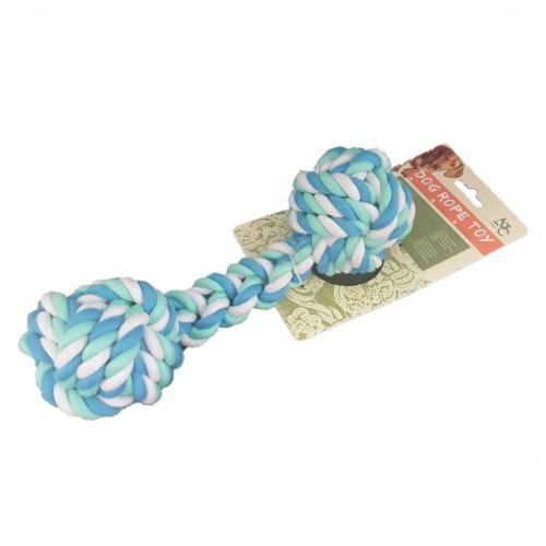 Pet Rope Tug Toy for Dogs - Blue/Aqua - Pet bonds