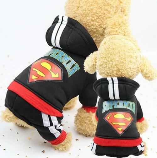 Dog Superman Tracksuit - Black