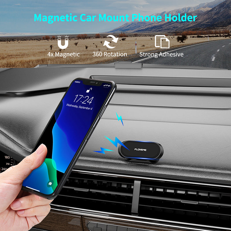 FLOVEME Multifunctional magnetic phone car holder mount with hook