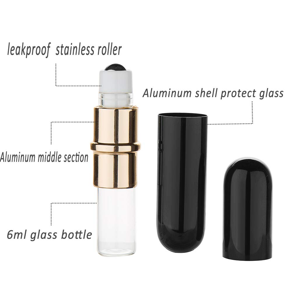 Premium Quality 5ml Leakproof Roll-On Essential Oil Perfume Glass Bottle