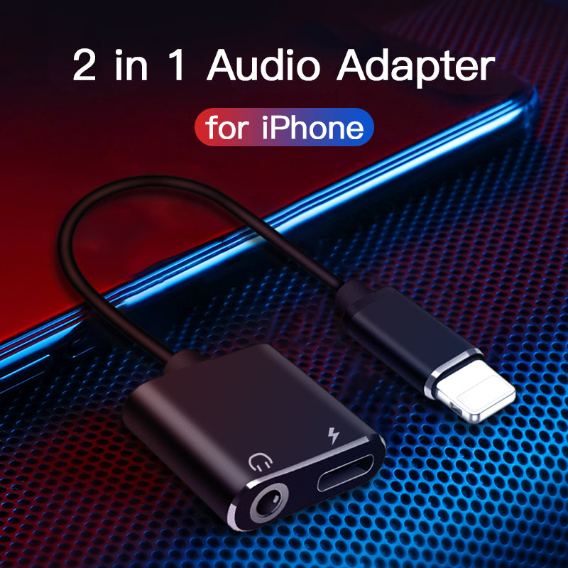 Lightning 3.5mm audio adapter for iPhone iPad