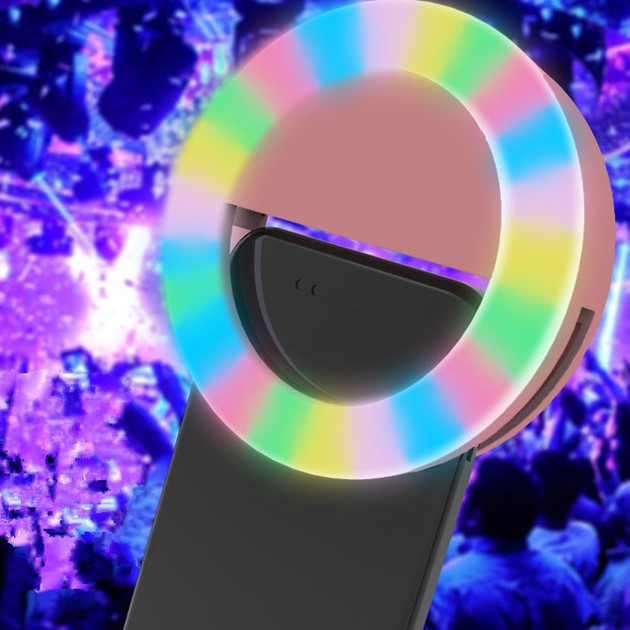 [2021 Model] Multi-colour RGB Rechargeable Portable Selfie Ring Light
