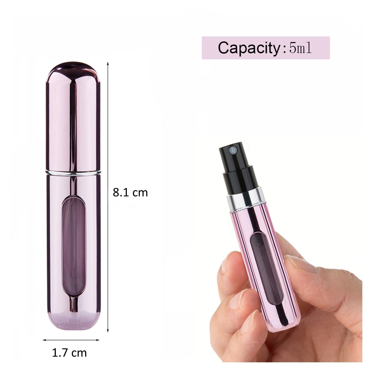 4 pack Premium 5ml Mini Perfume Atomiser Refillable Aluminum Spray Travel Bottles