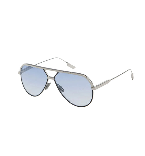 LEONE - Silver - Black | Light Blue Lens