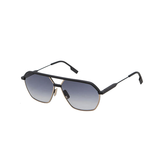 FEDERICO - Black Matt - Dark Gold | Black Lens