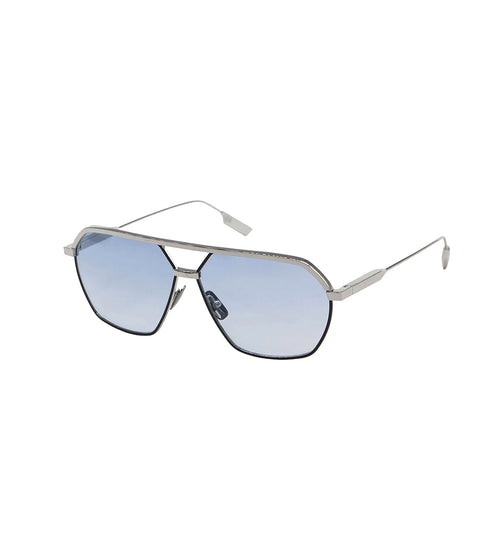 FEDERICO - Silver - Black | Light Blue Lens
