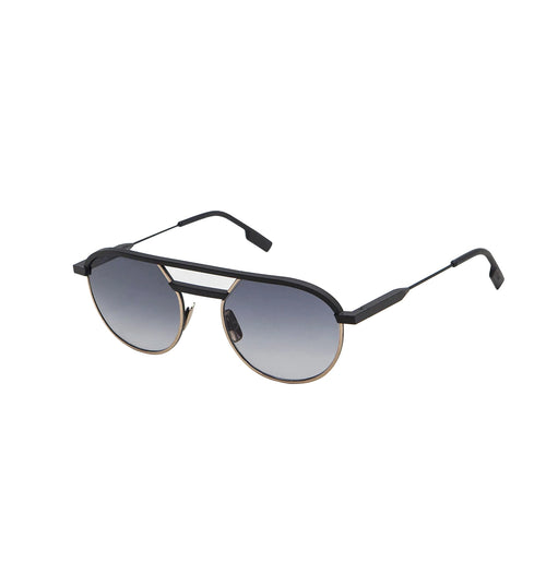 CARLO - Black Matt - Dark Gold | Black Lens