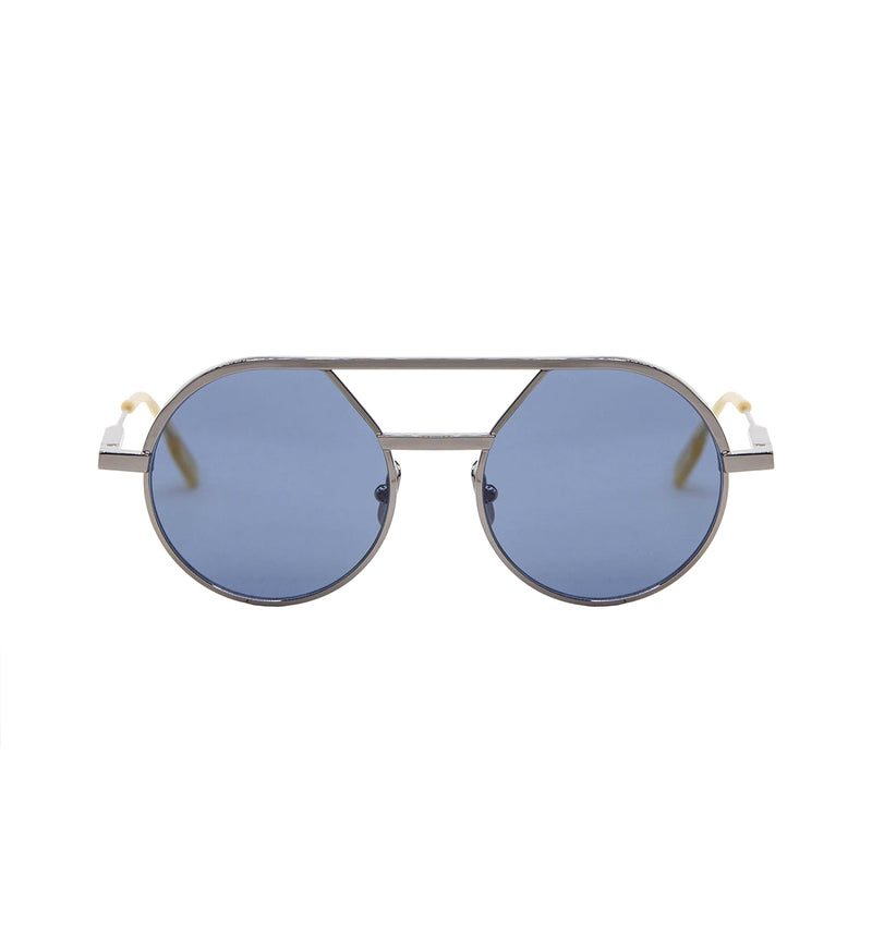 GIULIO - Light Ruthenium | Blue Lens