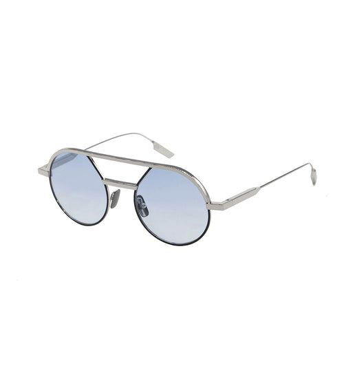 GIULIO - Silver - Black | Light Blue Lens