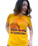 Retro Yellow Breezy Sunset T-Shirt (Women's Cut)