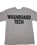 Gray Washboard Tech T-Shirt (Double Sided Printing)