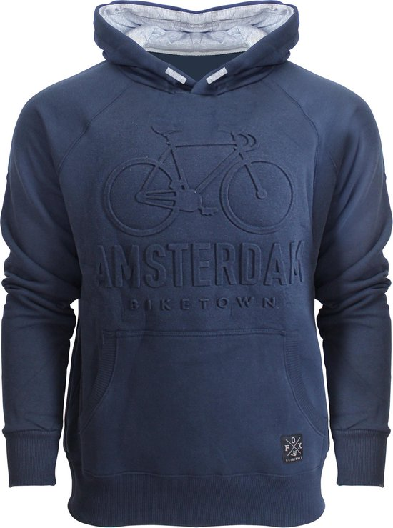Fox Originals Biketown Embossed Hooded Sweater Navy