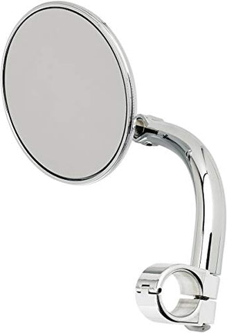 Biltwell Inc. 6503-578-531 4in. Round Utility Mirror with Clamp On Mount for 7/8in. Bar- Chrome - Throttle City Cycles