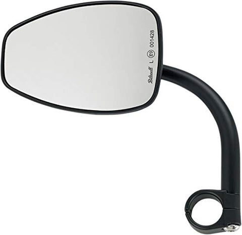 Biltwell Inc. 6504-578-131 Teardrop Utility Mirror with Clamp On Mount for 7/8in. Bar - Black - Throttle City Cycles