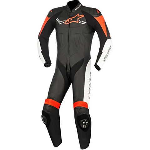 Alpinestars Challenger Men's 1-Piece Street Race Suits - Black/White/Red - Throttle City Cycles