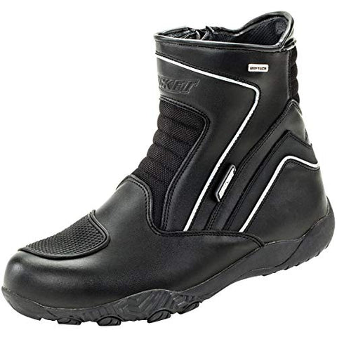 Joe Rocket Men's Meteor FX Mid Leather Motorcycle Riding Boot - Throttle City Cycles