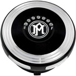 Performance Machine Merc Contrast Cut LED Fuel Indicator Gas Cap 0210-2025MRC-BM - Throttle City Cycles