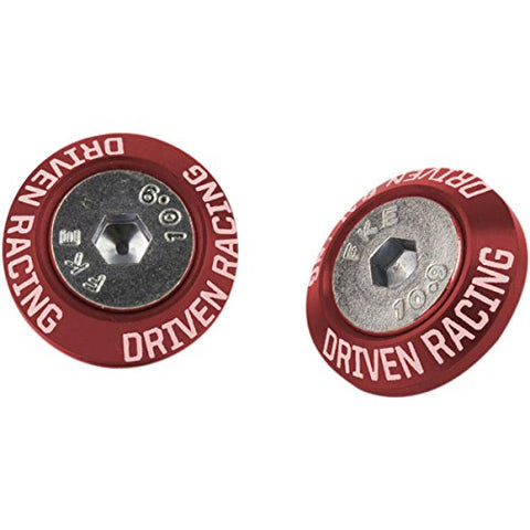 Driven Racing Mirror Block-Off Plate - Red DMBKTRD - Throttle City Cycles