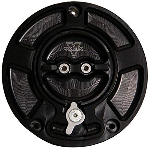 Vortex GC610K  V3 Black  Fuel Cap - Throttle City Cycles