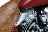 Kuryakyn 7181 Motorcycle Accessory: Heat Deflector Saddle Shields for 2014-19 Indian Motorcycles, Reflective Smoke, 1 Pair - Throttle City Cycles