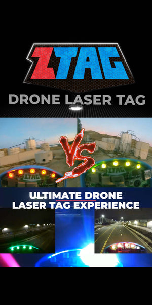ZTAG brings laser tag to drones! Take on your friends in the most epic real life aerial combat! ZTAG is highly interactive with flashing lights and sounds. Get into action!