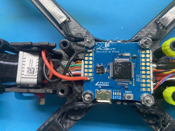 ztag soldered to flight controller