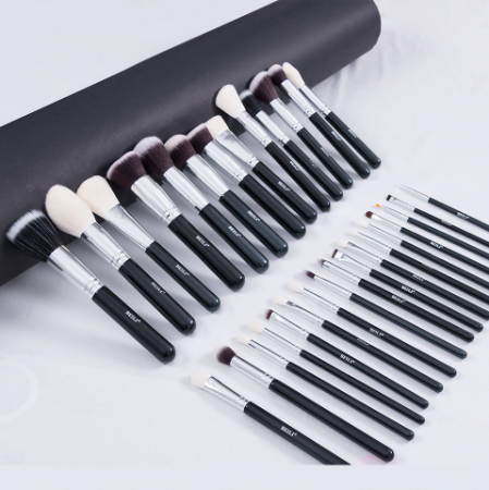 BEILI Black Complete Professional Natural goat hair Makeup Brushes