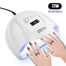 Load image into Gallery viewer, SUNX5 Max 90/72W LED Lamp Nail Dryer
