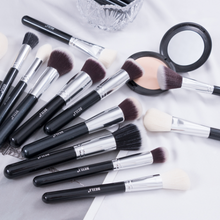 Load image into Gallery viewer, BEILI Black Complete Professional Natural goat hair Makeup Brushes