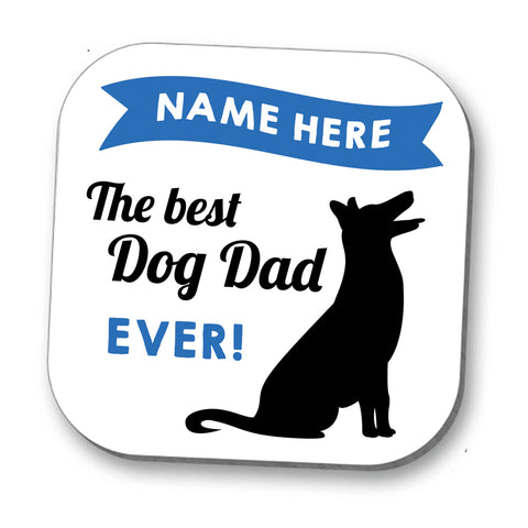 Best Dog Dad Personalised Coaster