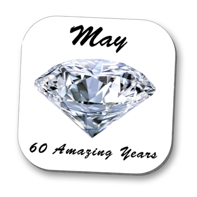 Diamond 60th Anniversary Coaster