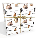 French Bulldog Personalised Birthday Wrapping Paper
