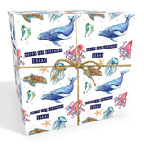 Under The Sea Personalised Birthday Wrapping Paper