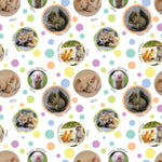 Cute Baby Animals Personalised Birthday Wrapping Paper