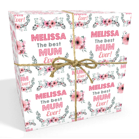 Best Mum Personalised Mother's Day Wrapping Paper