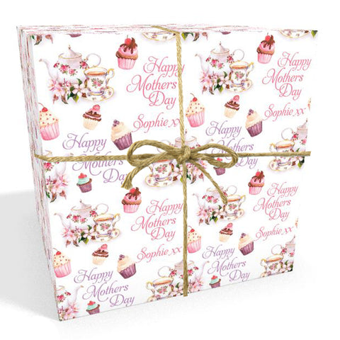 Afternoon Tea Personalised Mother's Day Wrapping Paper