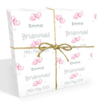 Bridesmaid Wedding Personalised Wrapping Paper