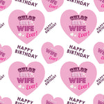 Best Wife Personalised Birthday Wrapping Paper